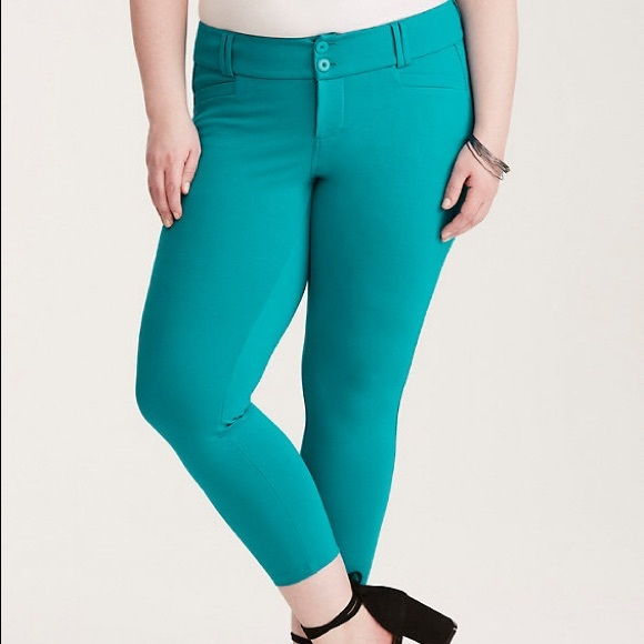 144c70b47a19d Ankle Trouser - Turquoise All-Nighter Ponte. NWT. torrid